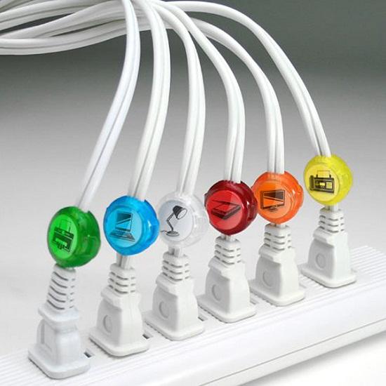 Dotz Cord Identifiers help organize your power strips