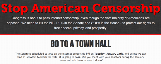 Show your opposition to SOPA/PIPA by participating in Internet Blackout on Wednesday