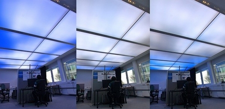 LED ceiling tiles bring the sky indoors