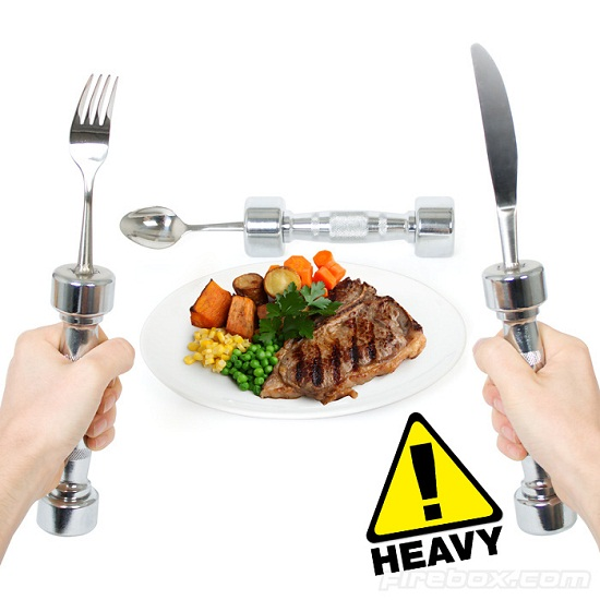 Eat Fit Cutlery Set makes you work out while you dine
