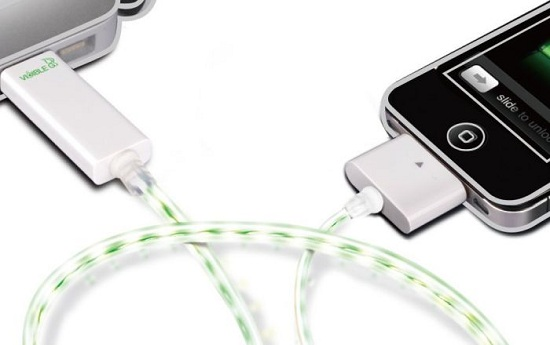 Smart Charge & Sync Cable pulses with the electric current