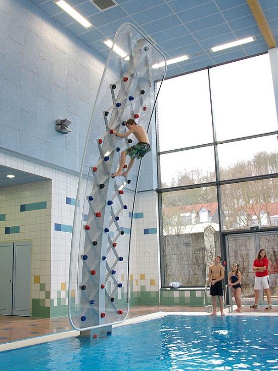 AquaClimb adds a rock wall to your pool