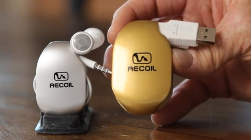 Recoil Winders eliminate tangled wires forever