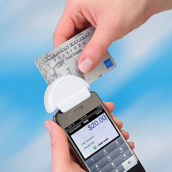 Smartphone credit card terminal is perfect for professionals on the go