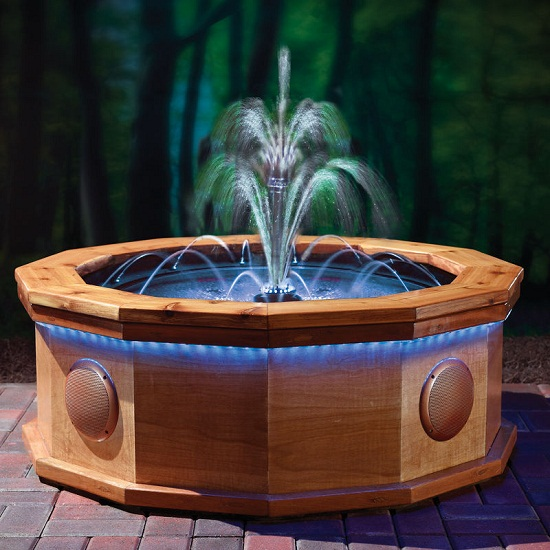Professionally Choreographed Orchestral Fountain gives you a light show at home