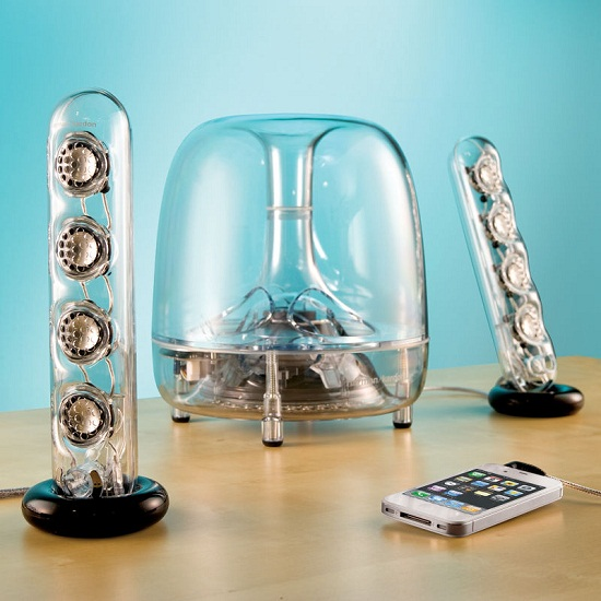 Resonating Transparent Speakers…made from SCIENCE