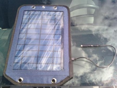 Solarrific Solar Backpack Panel can charge whatever you need it to