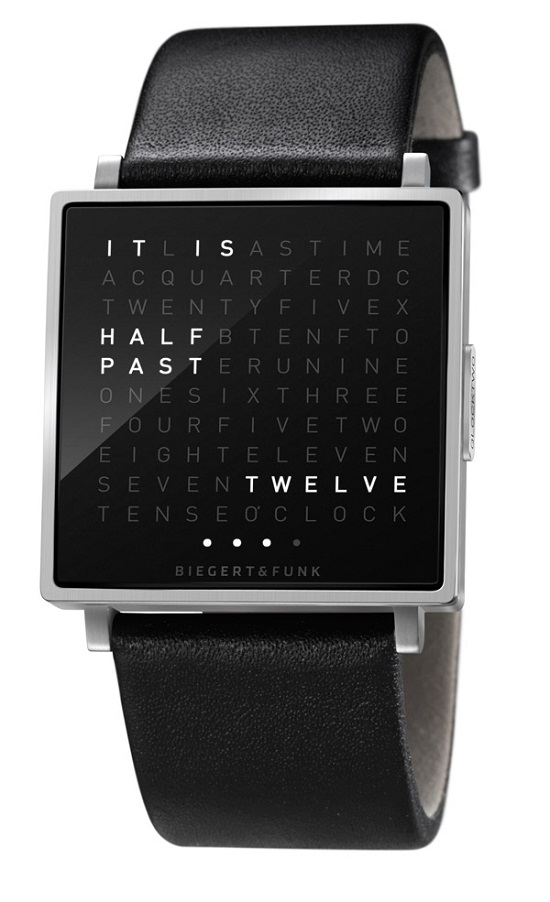 QlockTwo W is a wrist watch like none other