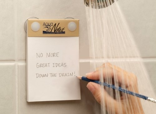 Aqua Notes are post-its for your shower