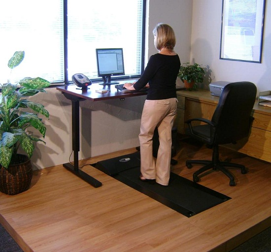 Tread Desk makes you walk while you work