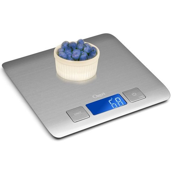 Ozeri Zenith Professional Digital Kitchen Scale is thin and precise