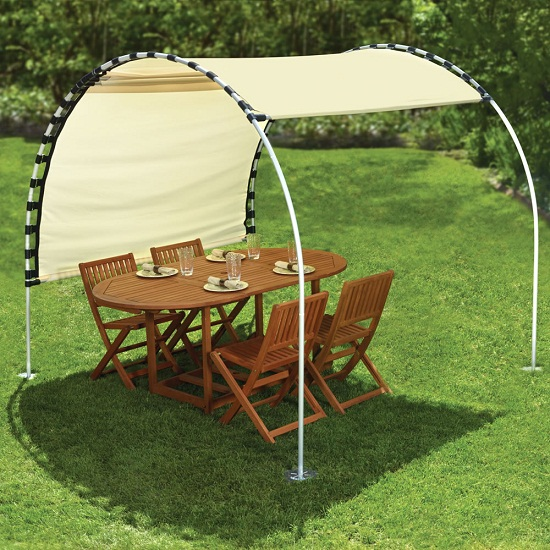 The Suntracking Shelter will guard you from UV rays all day long