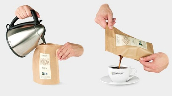 The Coffeebrewer lets you make coffee in a bag