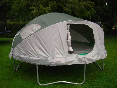 Trampoline Tent keeps the creepy crawlies out of your sleeping bag