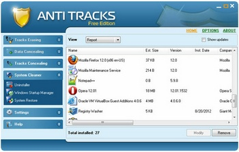 Anti Tracks Free keeps your PC super clean and shiny [Freeware]