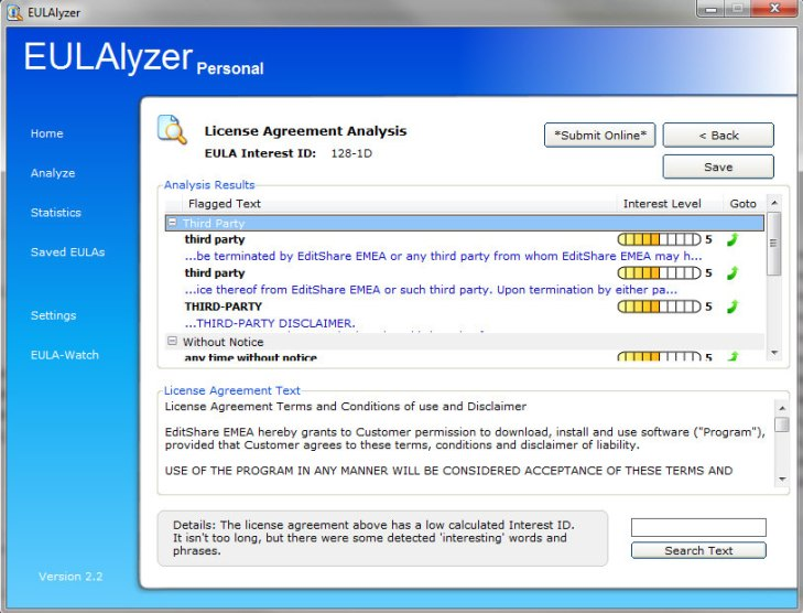EULAlyzer is a powerful weapon in the fight against unfair software fine print [Freeware]
