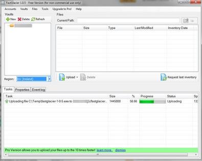 FastGlacier brings the superb Amazon Glacier file storage service to the desktop [Freeware]