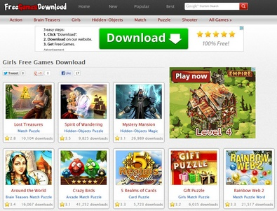 Free Games Download offers thousands of free games for download [Freeware]