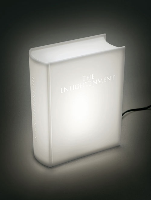 Enlightenment Book Lamp blends in with its surroundings