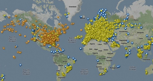 Awesome FlightRadar24 lets you track live air traffic across the world…