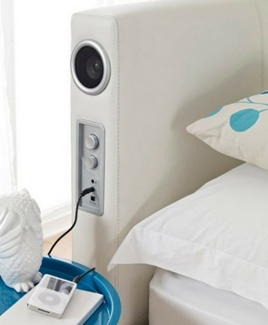 soundleatherbed 1 Sound Leather Bed is the worlds first iPod dock you sleep on