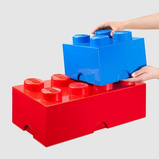 LEGO Storage Bricks lets your kid build organization skills