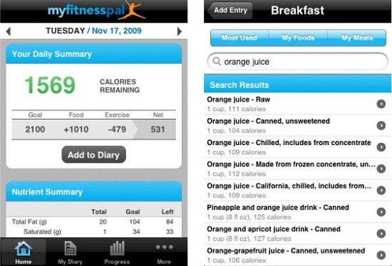 Myfitnesspal helps your keep your weight in check