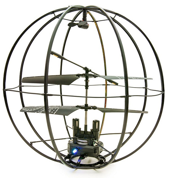 Kyosho Space Ball R/C Helicopter protects the innocent