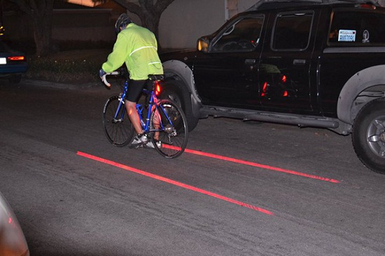 Bike Lane Safety Light gives you a bike lane wherever you go
