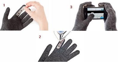 Emitips make your favorite gloves smartphone compatible