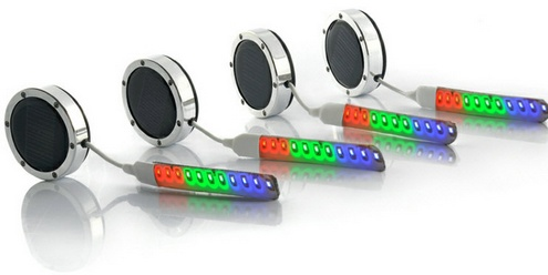 solarpoweredcarwheelledlights 1 Solar Powered Car Wheel LED Lights   add a touch of high class elegance to your vehicle