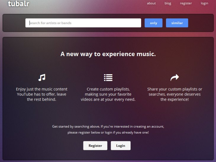 Tubalr – this new free music streaming service is elegant and cool