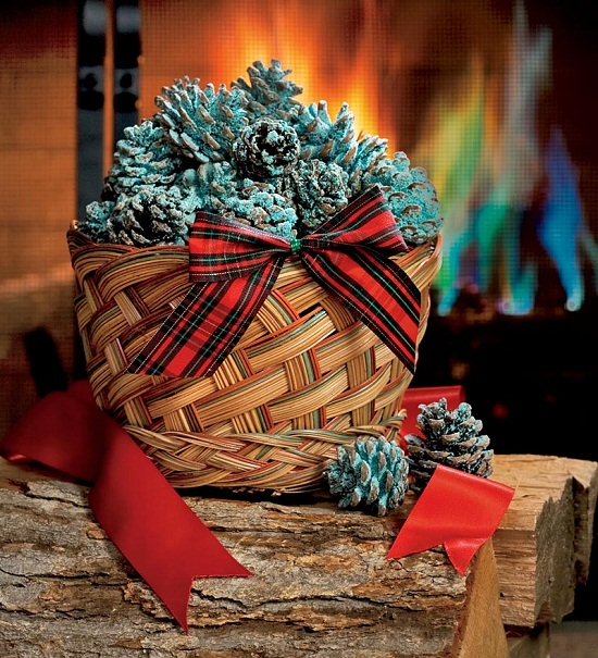 Color Cones Color Cones will add a little something special to your fireplace this season