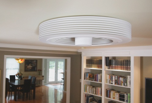 Exhale Bladeless Ceiling Fan puts a breath of fresh air into the room