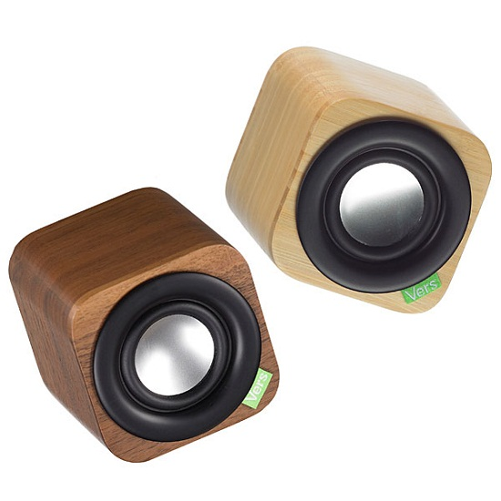 Vers 1Q Wood Cube Bluetooth Sound System is all bark, and has some bite