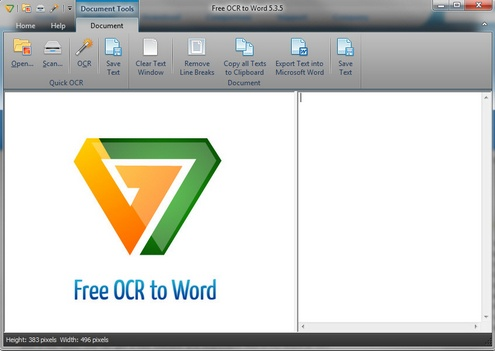 freeocrtoword FreeOCRtoWord   converts images to Word editable text with impressive results [Freeware]