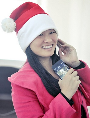 Santa Claus Hat with Headphones – get your festive party on