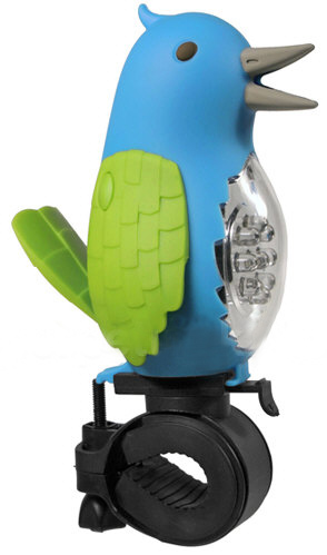 tweetingbirdbikelighthorn Tweeting Bird Bike Light & Horn   why follow when you can lead with style?