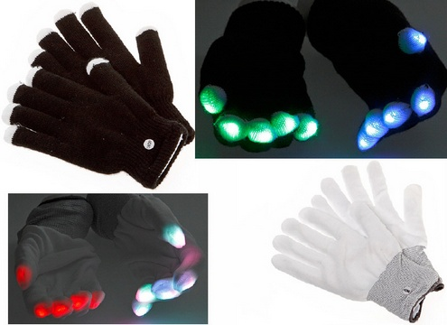 Xmas Light Gloves – nothing shows your holiday spirit more than glowing fingers