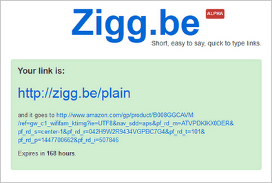 Zigg.be – short, easy to say web links which are perfect for your grandmother