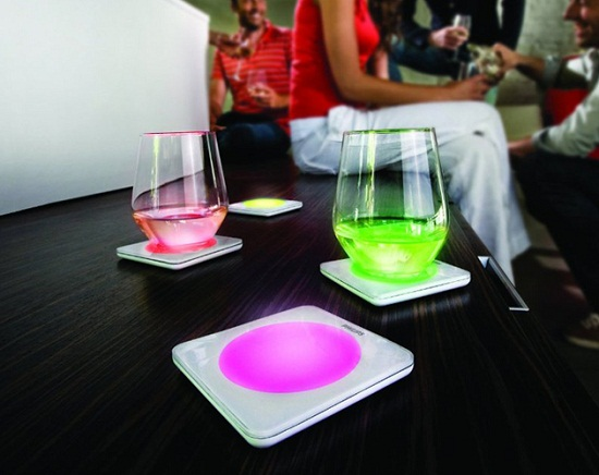 Color Changing Coasters liven up a boring beverage
