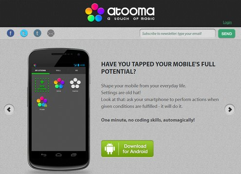 atooma Atooma   the almost perfect smartphone automator app [Freeware]