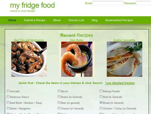 myfridgefood My Fridge Food   instantly find a recipe from your fridge contents