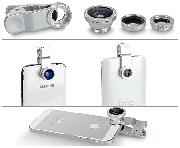 Clip-on Mobile Phone Camera Lens Kit – quick easy lens adapter for budding photographers