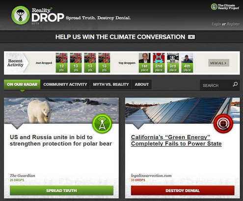 Reality Drop – taking the climate conversation to a new level?