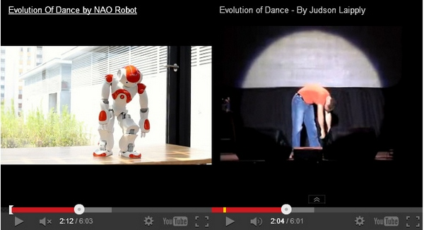 robotmanvideomashup Mashup!   NAO Robot vs Judson Laipply...The Evolution Of Dance