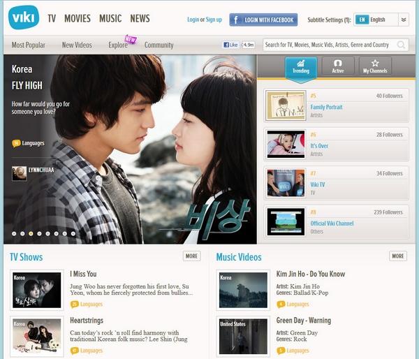 Viki – enjoy free movies, music and TV from around the world