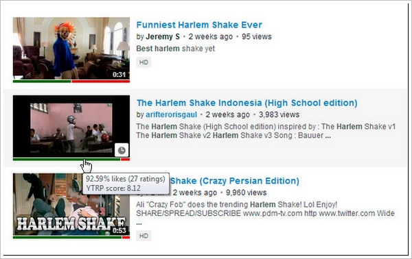 YouTube Ratings Preview – browser add-on gives instant overview of video watchability [Freeware]