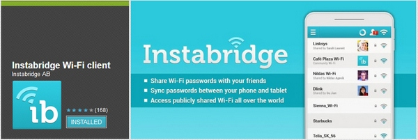 Instabridge – share your WiFi Internet service with friends and family instantly [Freeware]