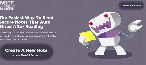 NoteShred – encrypted password protected email notes which auto self destruct. Paranoid much?